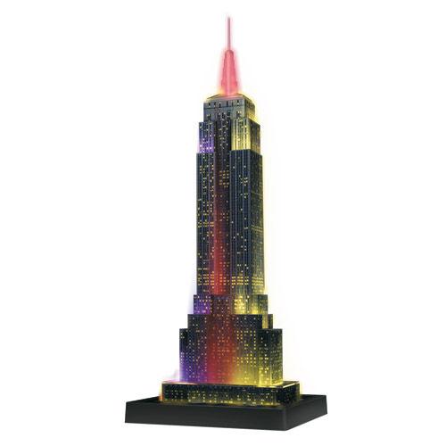 Puzzle 3d empire building luminos 216 piese ravensburger imagine