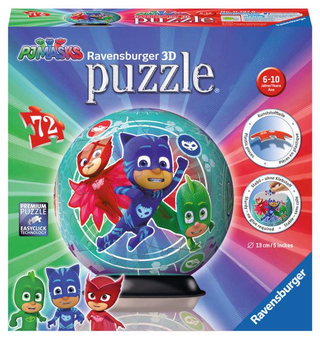 Puzzle 3d eroi in pijamale 72 piese ravensburger imagine