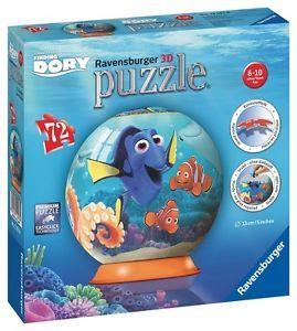 Puzzle 3d in cautarea lui dory 72 piese ravensburger imagine