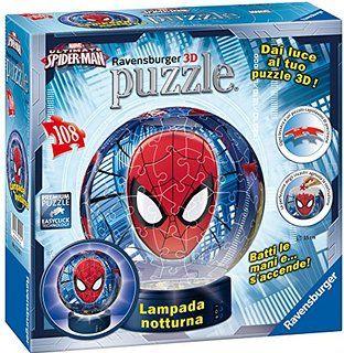 Puzzle 3d luminos spiderman 108 piese ravensburger imagine