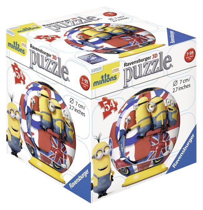 Puzzle 3d minions 54 piese ravensburger imagine