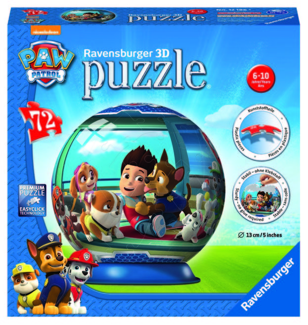 Puzzle 3d paw patrol 72 piese ravensburger imagine