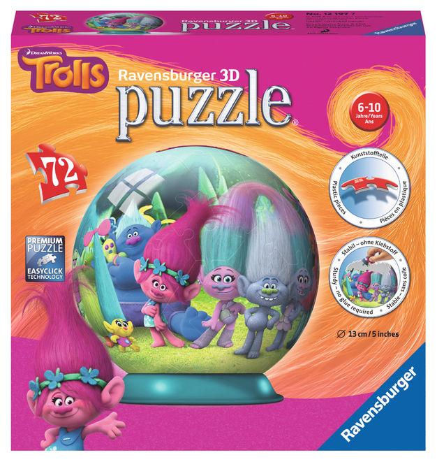 Puzzle 3d trolls 72 piese ravensburger imagine