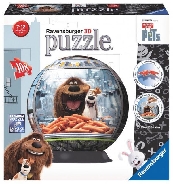 Puzzle 3d viata animalelor 108 piese ravensburger imagine