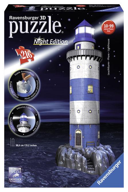 Puzzle 3d farul noaptea 216 piese ravensburger imagine