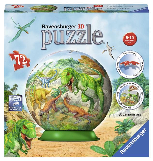 Puzzle 3d dinozauri 72 piese ravensburger imagine