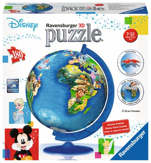 Puzzle 3d globul disney 180 piese ravensburger imagine