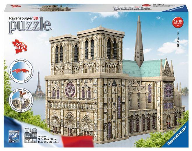 Puzzle 3d notre dame 324 piese ravensburger imagine