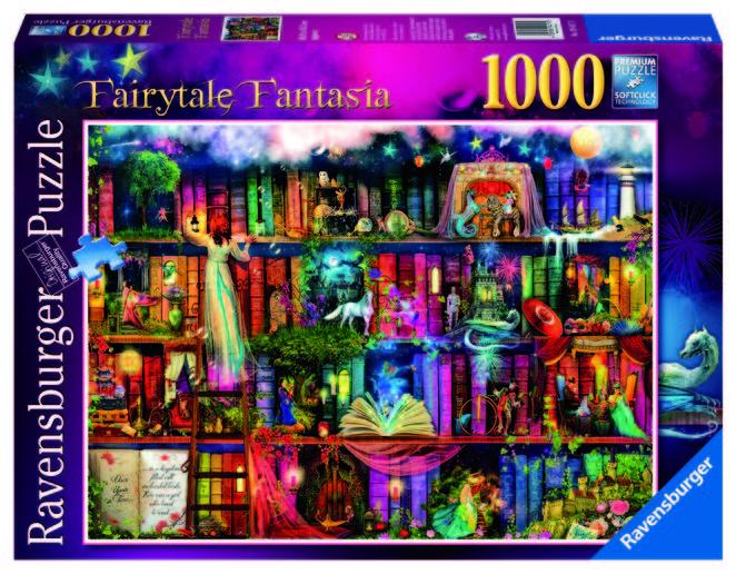 Puzzle copii si adulti basm 1000 piese ravensburger imagine