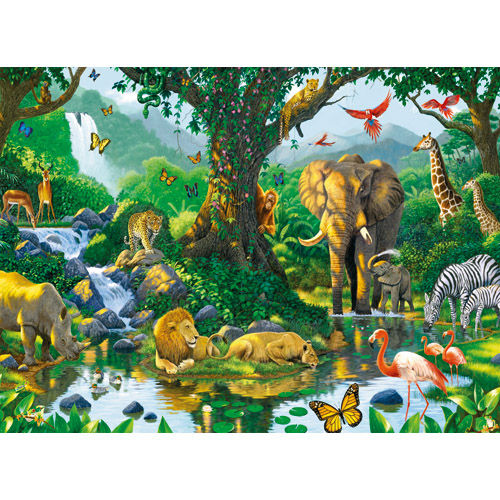Puzzle jungla 500 piese ravensburger