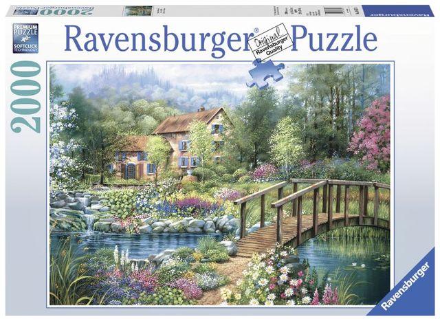 Puzzle adulti casa de vara 2000 piese ravensburger imagine