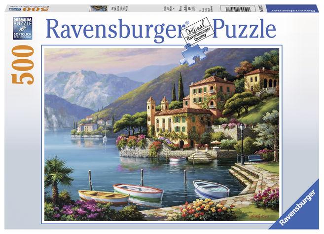 Puzzle coasta italiei 500 piese ravensburger imagine