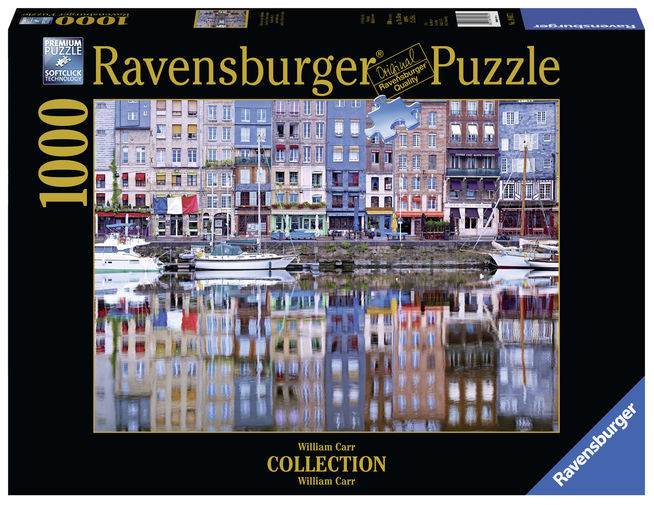 Puzzle copii si adulti honfleur 1000 piese ravensburger imagine