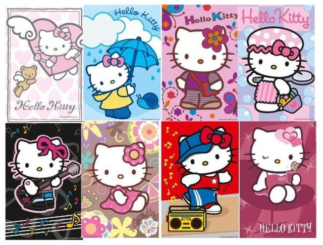 Mini puzzle hello kitty 54 piese ravensburger imagine