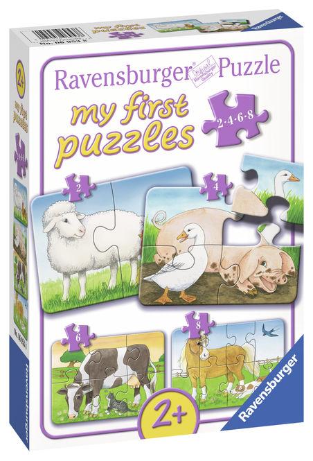 Primul meu puzzle animale de la ferma ravensburger imagine