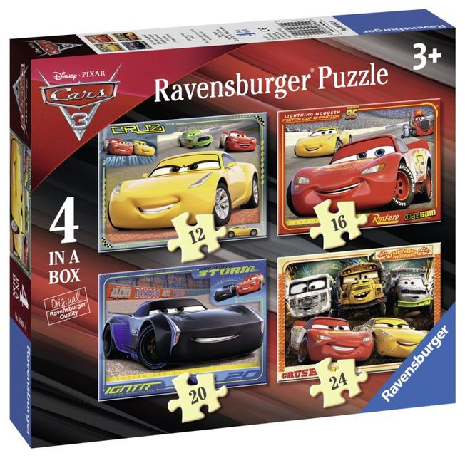 Puzzle cars 12/16/20/24 piese ravensburger