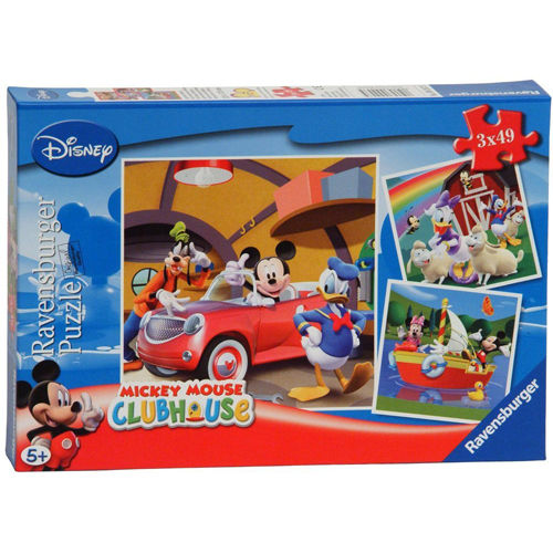 Puzzle clubul mickey 3x49 piese ravensburger