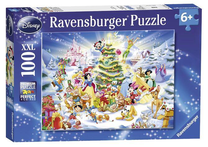 Puzzle craciunul disney 100 piese ravensburger imagine