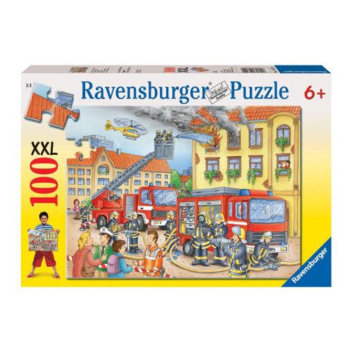 Puzzle pompieri in actiune 100 piese ravensburger imagine