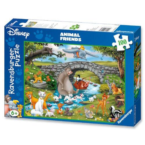 Puzzle animale pe rau 100 piese ravensburger