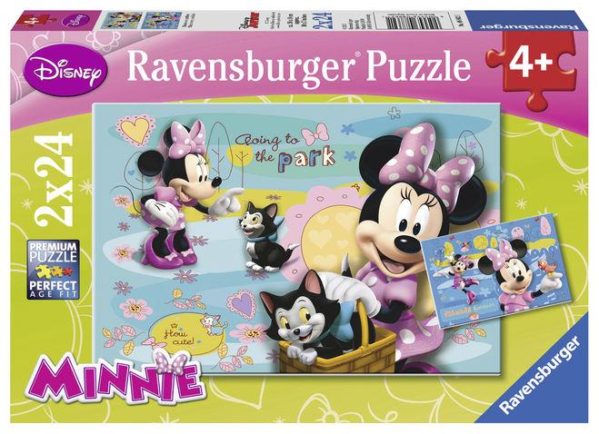 Puzzle minnie mouse 2x24 piese ravensburger