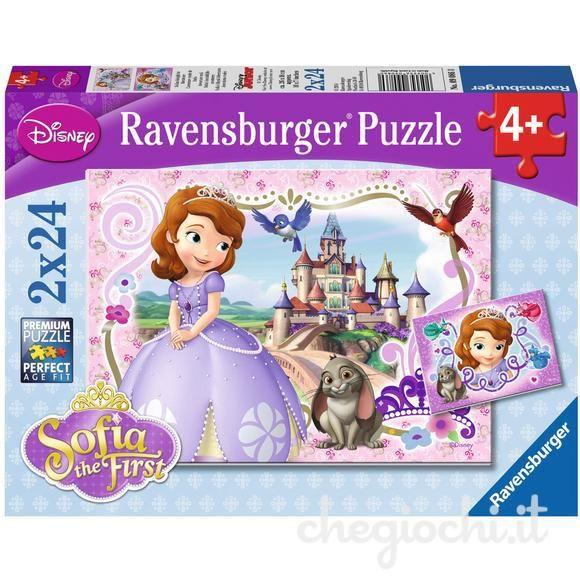 Puzzle printesa sofia 2x24 piese ravensburger