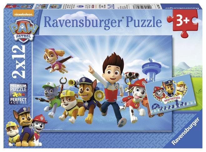 Puzzle ryder si patrula catelusilor 2x12 piese ravensburger