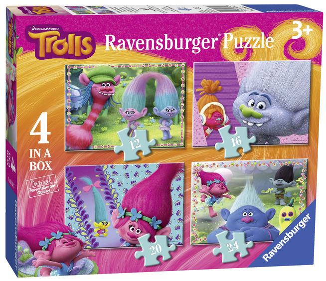 Puzzle trolls 12/16/20/24 piese ravensburger imagine