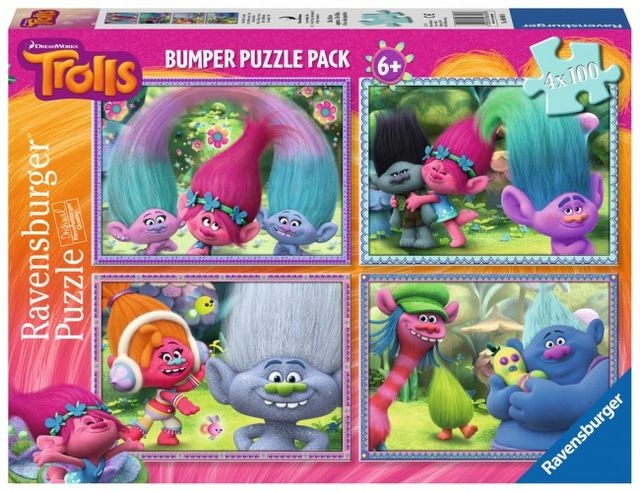 Puzzle trolls 4x100 piese ravensburger