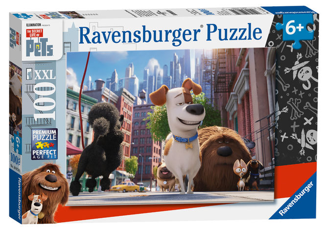 Puzzle pets singuri acasa 100 piese ravensburger