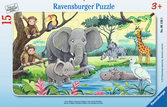 Puzzle animale din africa 15 piese ravensburger