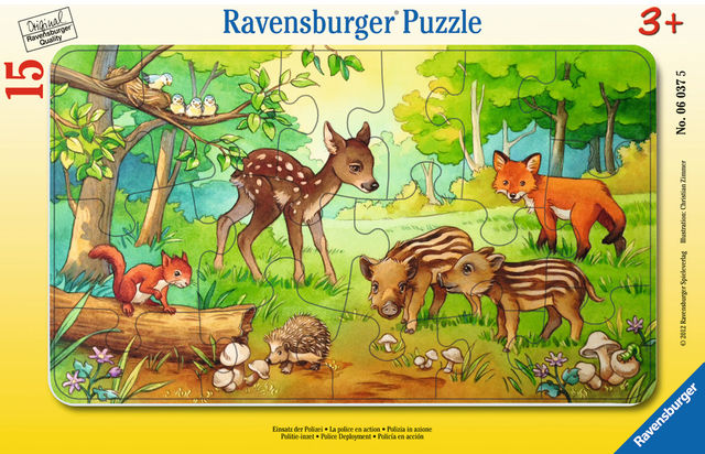 Puzzle animale in padure 15 piese ravensburger