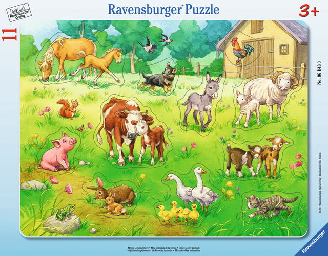 Puzzle animalele mele 11 piese ravensburger imagine