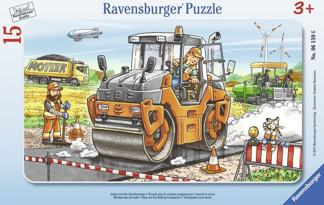 Puzzle compactor asfalt 15 piese ravensburger imagine