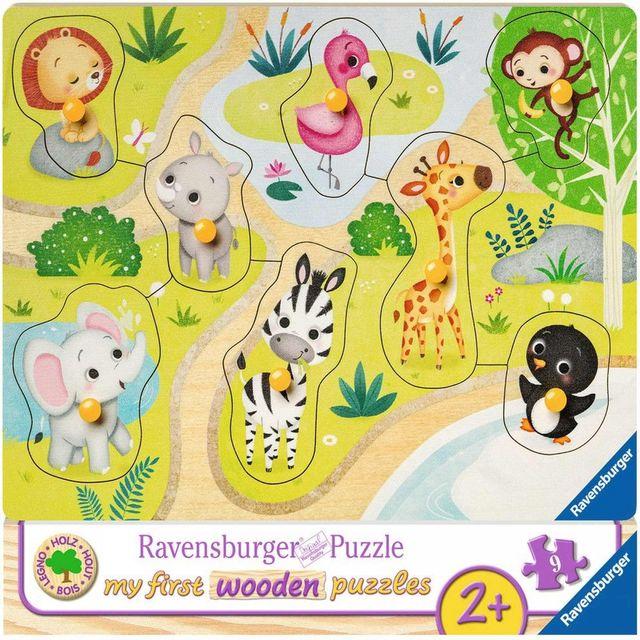 Puzzle din lemn animale zoo 8 piese ravensburger imagine
