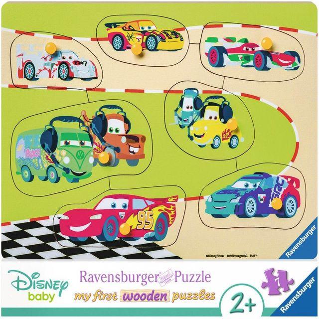 Puzzle din lemn cars 7 piese ravensburger imagine