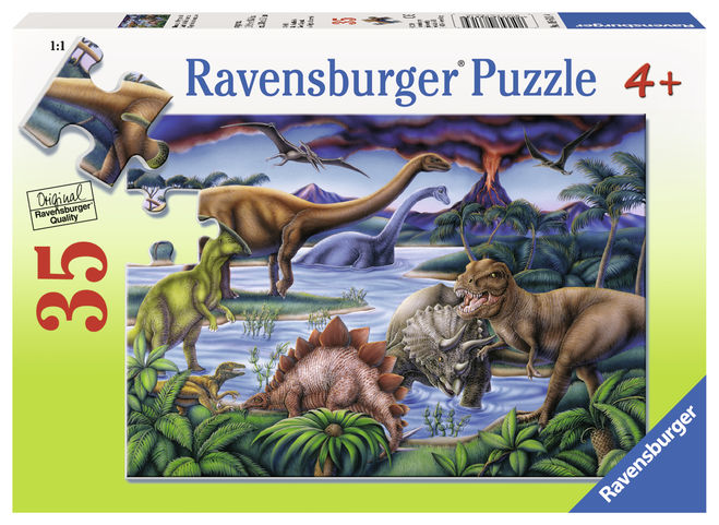 Puzzle dinozauri 35 piese ravensburger