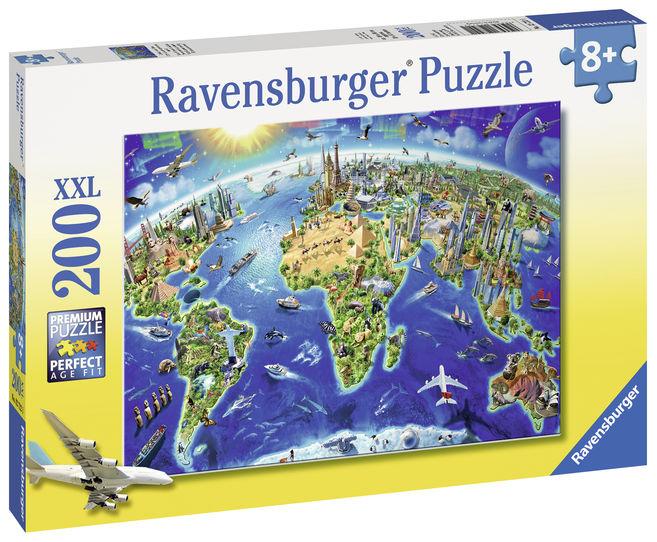 Puzzle harta lumii 200 piese ravensburger