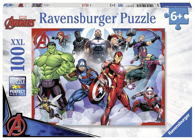 Puzzle marvel avengers 100 piese ravensburger imagine