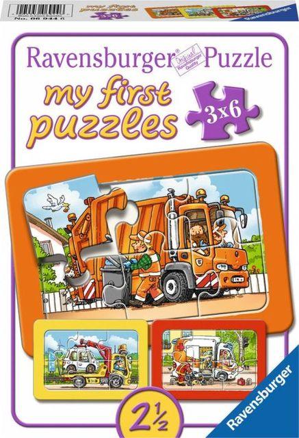 Puzzle masini 3x6 piese ravensburger