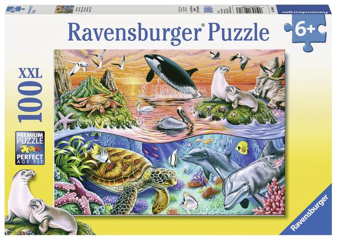 Puzzle minunatul ocean 100 piese ravensburger