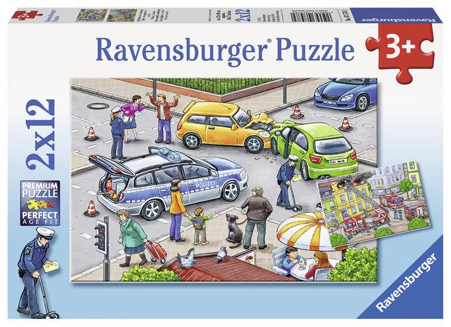 Puzzle politie 2x12 piese ravensburger