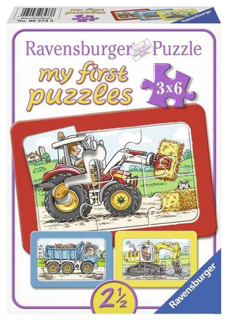 Puzzle utilaje 3x6 piese ravensburger imagine