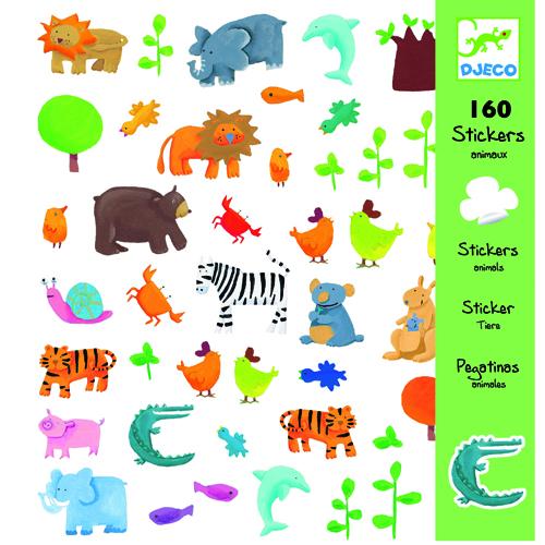 Abtibilduri cu animale vesele djeco imagine