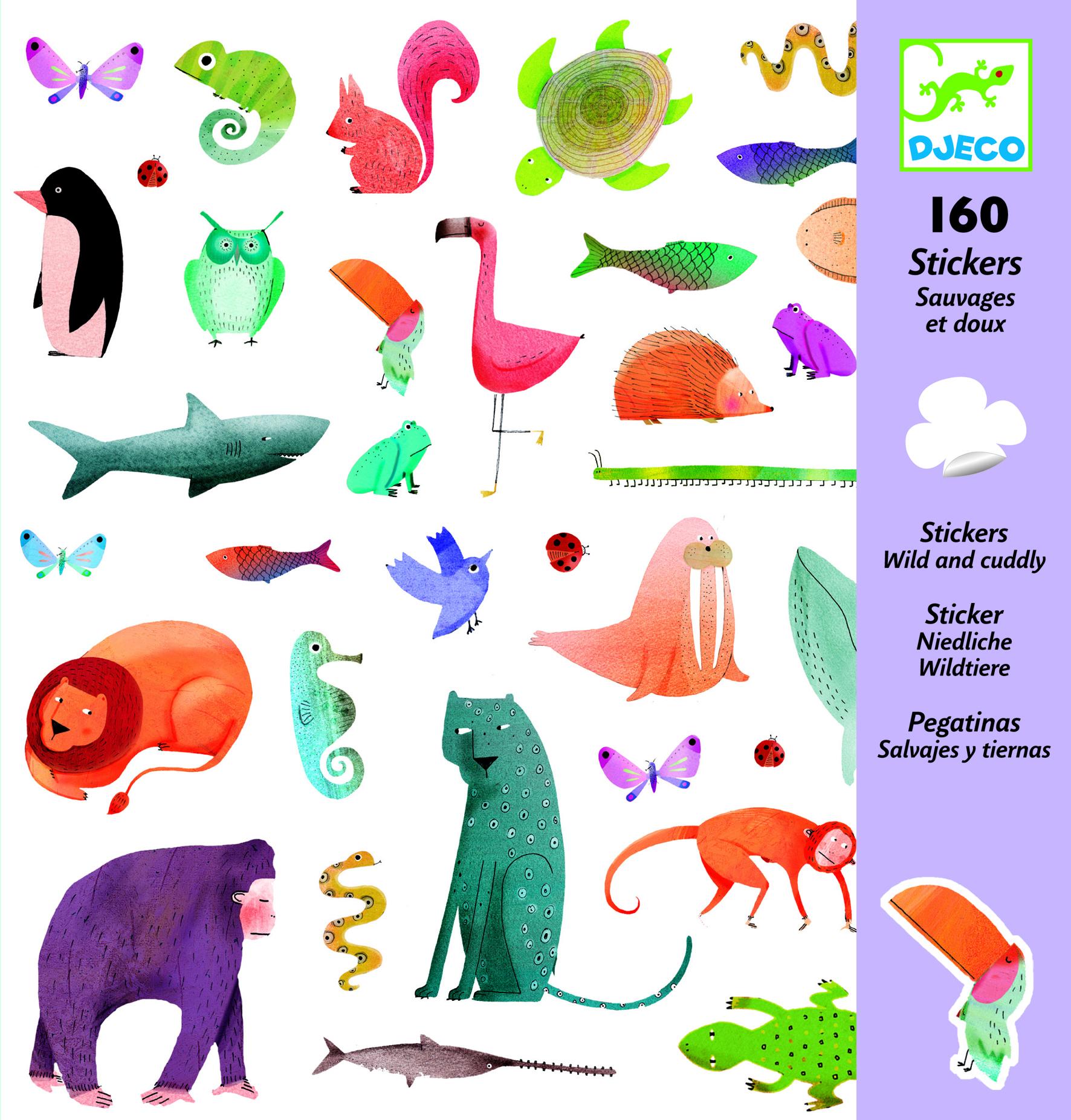 Abtibilduri animale prietenoase djeco imagine