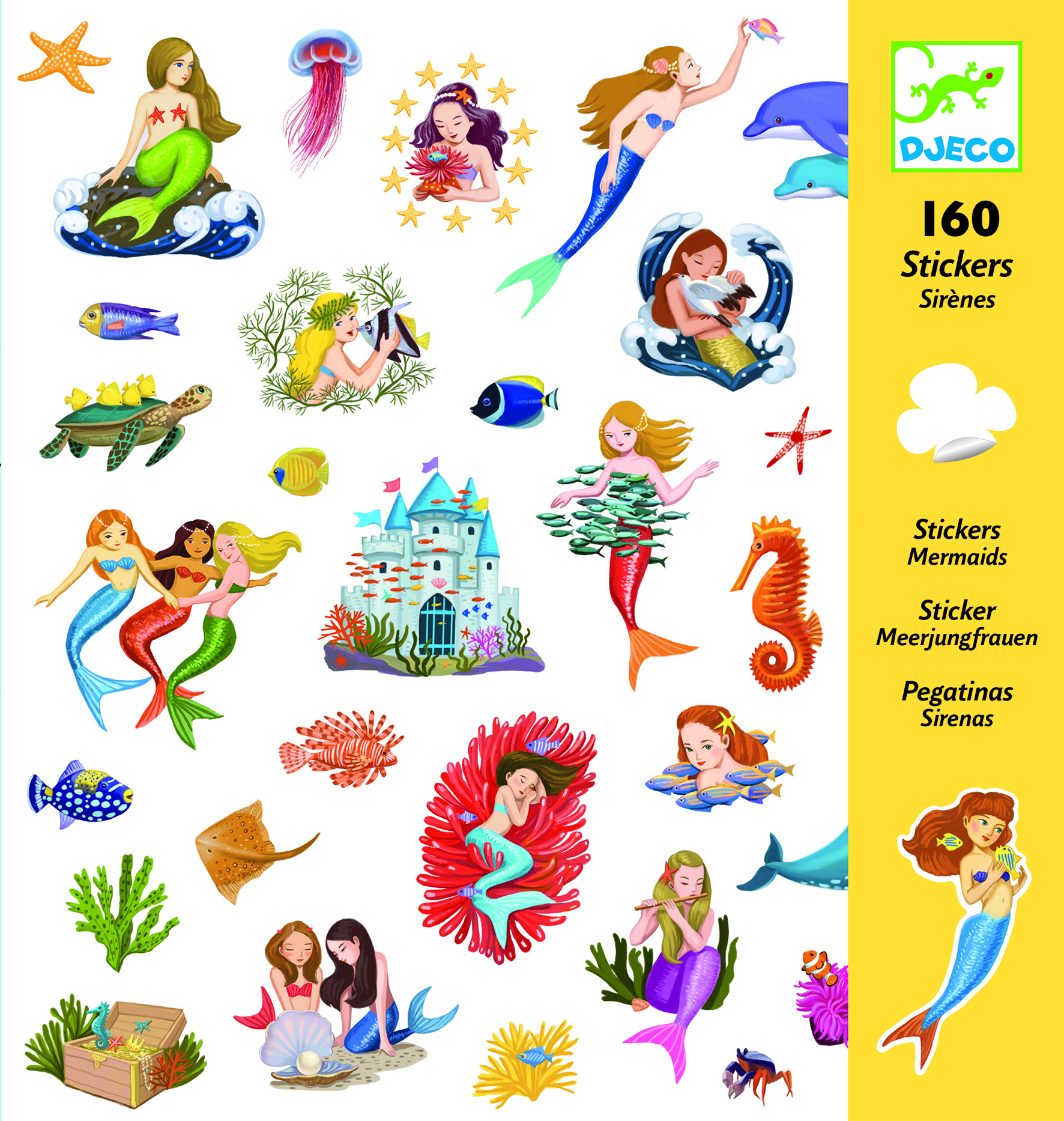 Abtibilduri cu sirene colorate djeco imagine