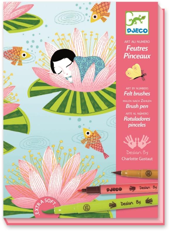 Atelier creativ de colorat nymphea djeco imagine