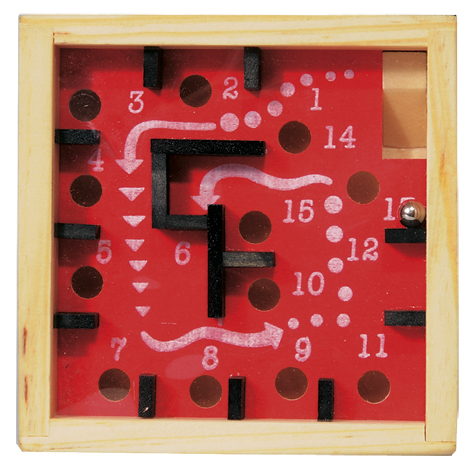 Labirint numerotat cu bila rosu fridolin imagine