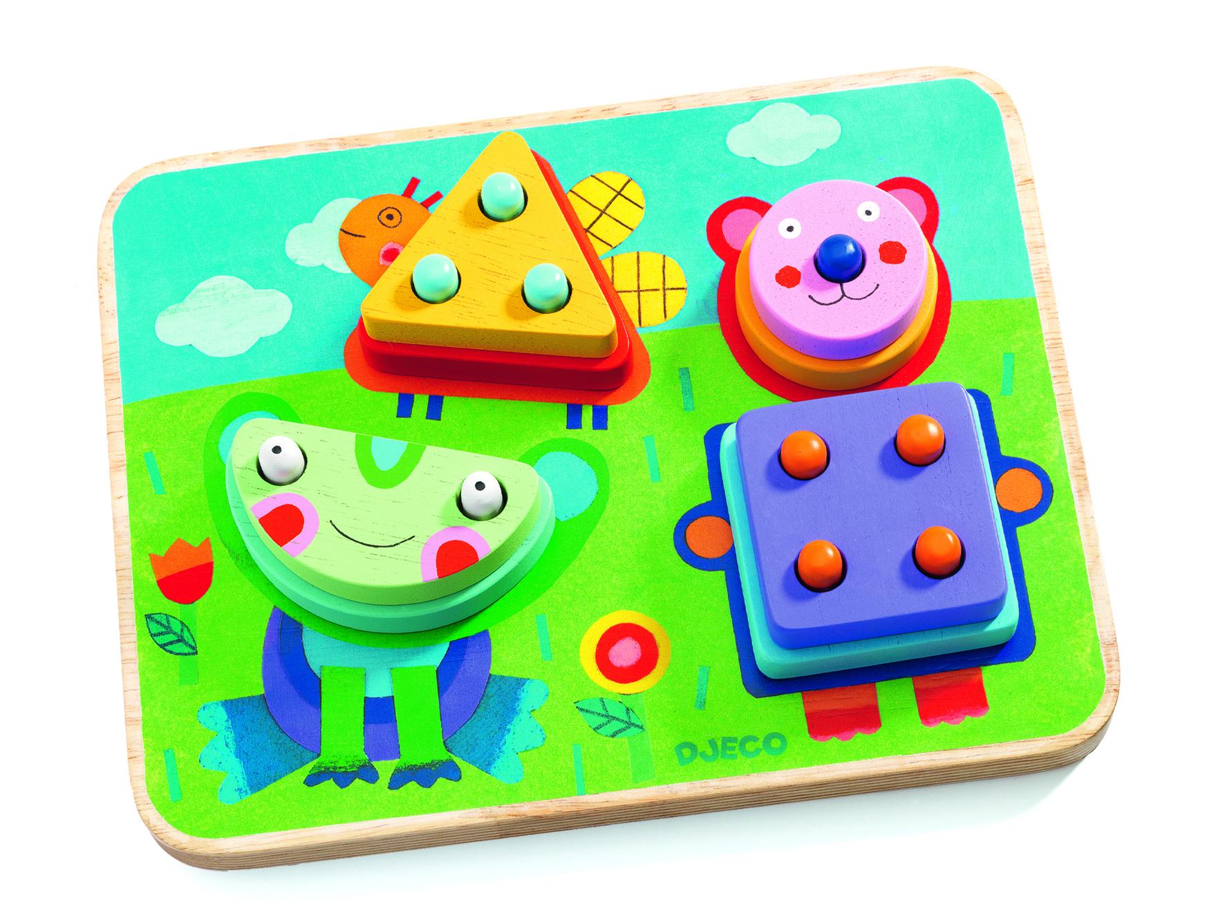 Puzzle si joc de indemanare kikouplock djeco imagine
