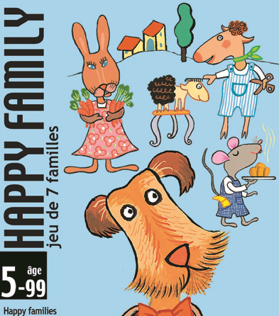 Joc de carti happy family djeco